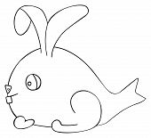 stock photo of hare  - Figure of April fish Hare on white background in the Happy holiday collection - JPG