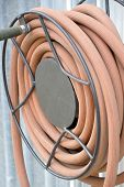 picture of save water  - Water hose for watering the garden outside - JPG