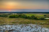 picture of steppes  - Dawn over the steppe field in Kharkiv region - JPG