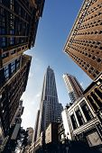 pic of empire state building  - Below view from street on Empire state building in New York - JPG