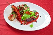 picture of cayenne pepper  - baked salmon with herbs and cayenne pepper - JPG