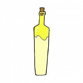stock photo of posh  - retro comic book style cartoon posh bottle - JPG