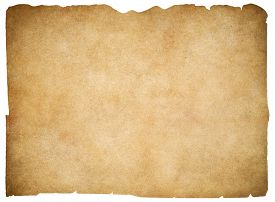 stock photo of scroll  - Old blank parchment or paper isolated - JPG