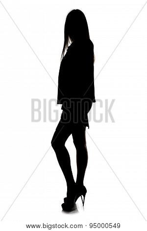 Image woman's silhouette - full length