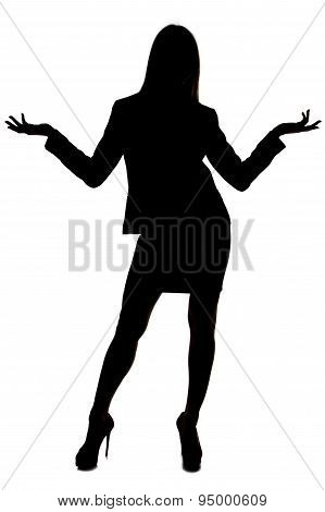 Image of woman's silhouette with open hands