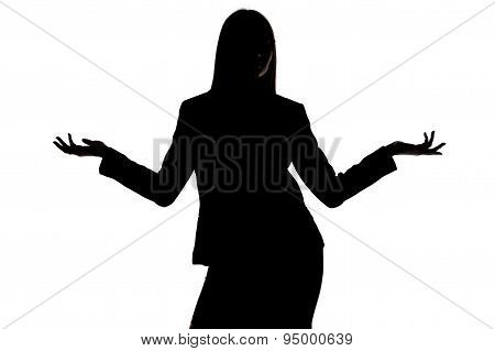 Photo of woman's silhouette with open hands