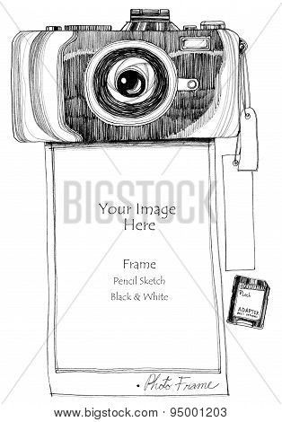 Picture frame camera printer