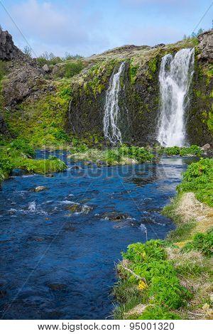 Waterfall in the Gjain gorge