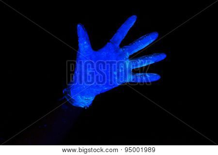 Photo of luminous glove