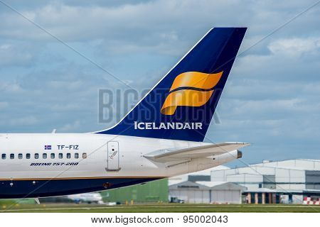Icelandair Plane Tail