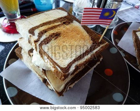Bread with Malaysian flag