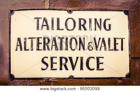 A Vintage Tailor Sign In London