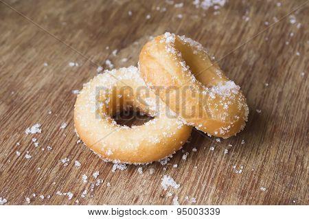 Mini Fresh Donut On White Plate