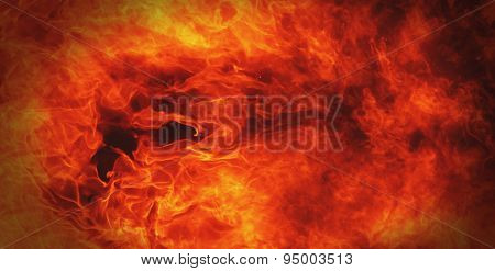 Fire Background A Symbol Of Hell And Inferno
