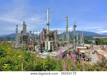 Vancouver oil refinery
