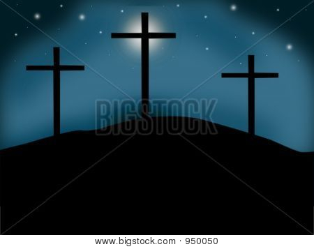 Night Sky Crosses Teal