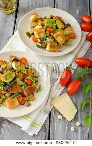 Homemade Gnocchi With Mediterranean Vegetables