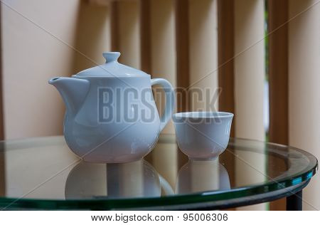 Teapot And Teacup.