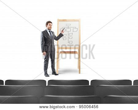 Businessman in a meeting