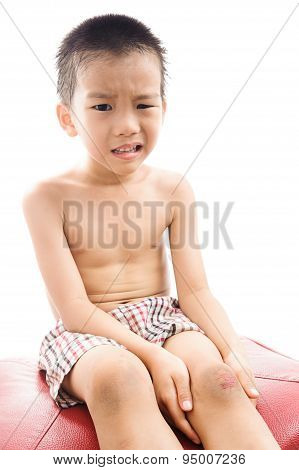 Wound On Boy Knee