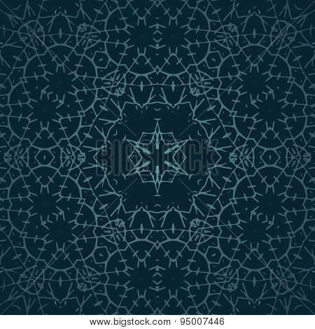 Ornament Oriental Vector Background With Tribal Elements. Traditional Ornament