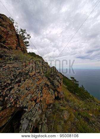 The Mysterious Island Of Olkhon On Lake Baikal. The Landscape Of Nature.