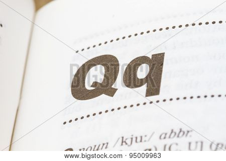 Letter Q In Dictionary