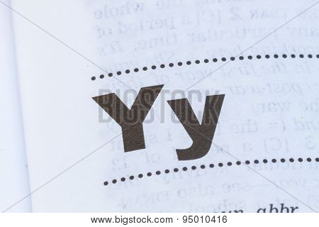 Letter Y In Dictionary