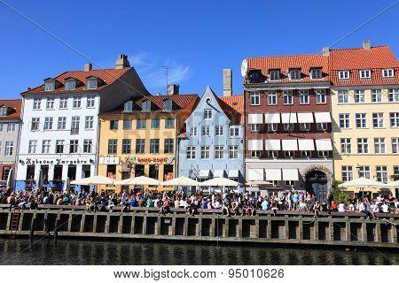 View of Nyhavn in Denmark