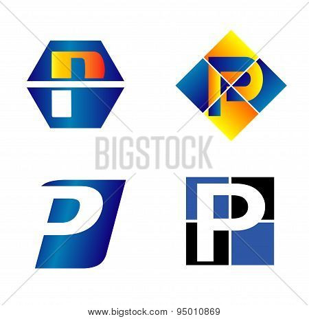 Alphabetical Logo Design Concepts. Letter P