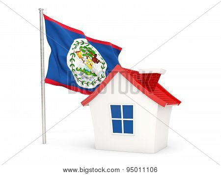 House With Flag Of Belize