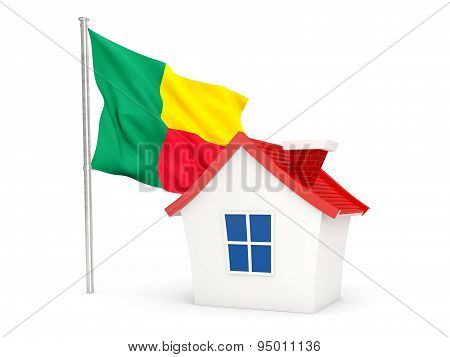 House With Flag Of Benin
