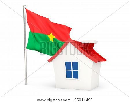 House With Flag Of Burkina Faso