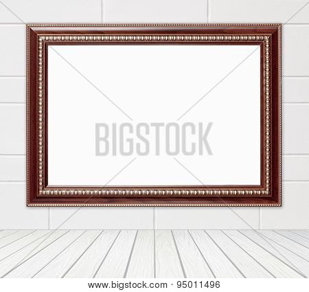 Blank Wood Frame In Room