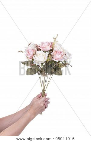 Women Delivering Flowers