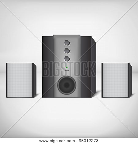 Stereo speakers with subwoofer