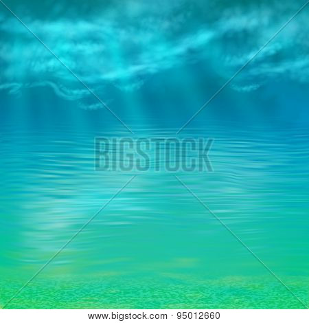 Vector Abstract Under Water Background