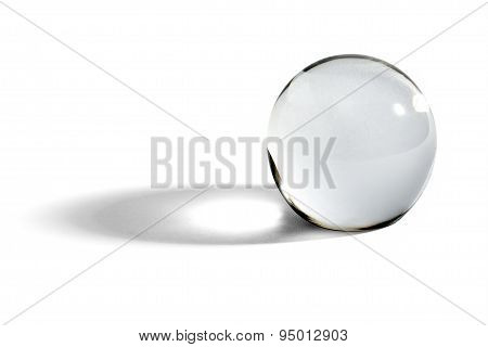 Glass Ball Or Orb With Shadow