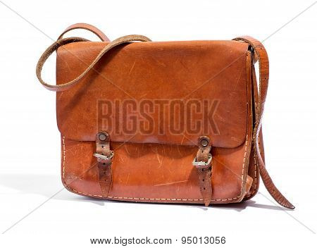 Old Brown Leather Bag