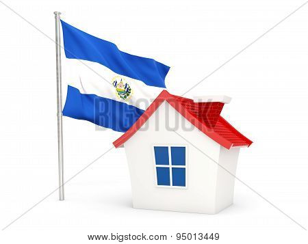 House With Flag Of El Salvador
