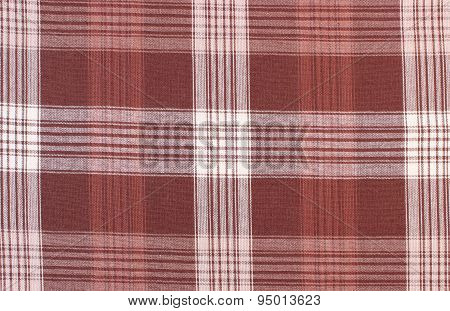 Brown And White Tablecloth As Background