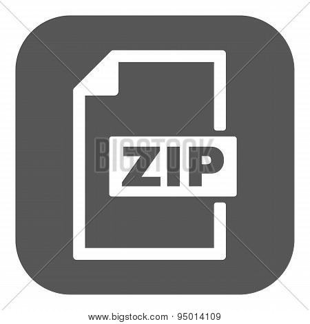 The Zip File Icon. Archive And Compressed Symbol