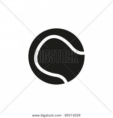 The Tennis Ball Icon. Sport Symbol. Flat