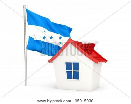 House With Flag Of Honduras