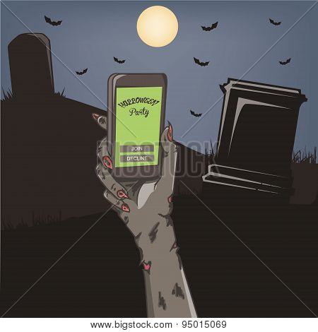Halloween Party Mobile Invitation