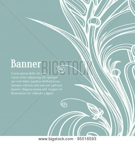 Calligraphic design elements. Flourish vector design template fo