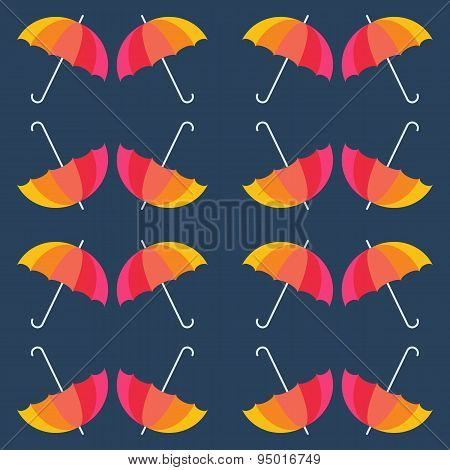 Vector umbrellas background. Sun umbrellas background. Rainbow c