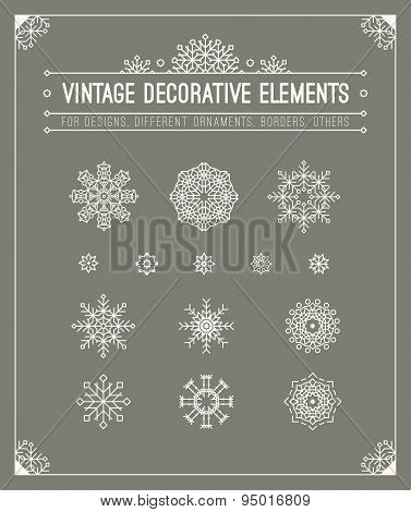 Vintage decorative elements. Hipster design. Set of geometric sh