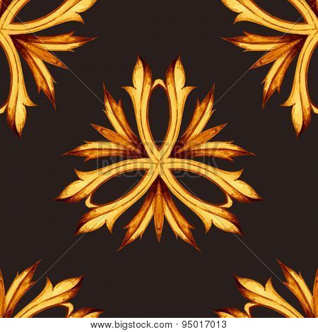 Vector floral seamless pattern. Botanical seamless background. L