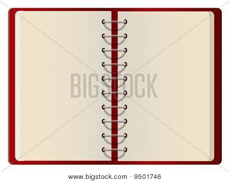 Red cover blank notebook
